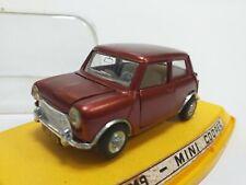 PILEN garnet Mini Cooper 1/43 Made in Spain car in box coche en caja classic