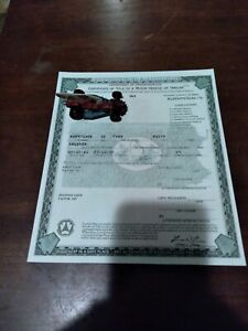 1932 Ford Roadster Paperwork Document