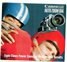 Photography Reference Guide For The Canon Super Auto Zoom 814