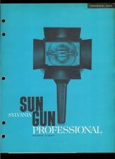 Super Rare Sylvania Sun Gun Professional Studio Photo Light Dealer Brochure