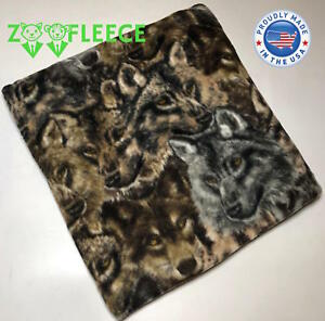 """ZooFleece Wolf Dog Pack Animal Blanket Throw Camouflage Winter Wolves 60X60"""""""
