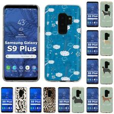 Thin Gel Design Phone Case Cover for Samsung Galaxy S9 Plus,Cats Stylish Print