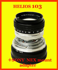 Helios-103 lens 1.8/53mm E-mount for Sony NEX, Excellent++