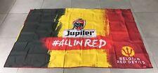 DRAPEAU FLAG BIERE BELGE BEER BIER JUPILER COUPE DU MONDE FOOTBALL RED DEVILS