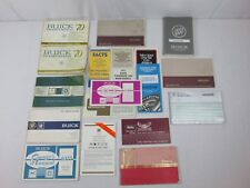 1970s 1980s 1990s Buick Car Owners Operator Guide Manual Lot #8