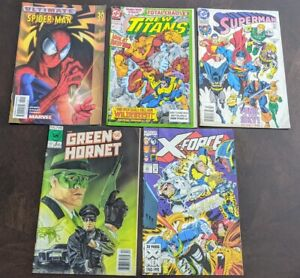 Mixed Lot of Vintage Marvel Now and DC Comics Spiderman XForce Superman +