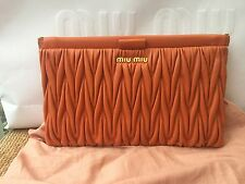 100% auth MIU MIU by PRADA Papaya clutch bag NEW (RRP:820)