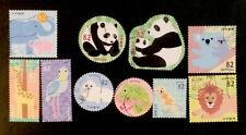 Cute Japan postage stamps 2018 Greeting Animal Series #1, Zoo, complete Used