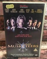 The Three Musketeers Big Box Ex Rental VHS Video Tape Rare Vintage Collectable