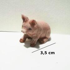 cochon , miniature en porcelaine, collection, pig, varken    G31-10