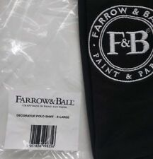Farrow & Ball Decorators Polo Shirt, Black XL - Brand New