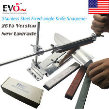 US Ship Knife Sharpener Kitchen Sharpening System Fix-angle With 4 Stones 2017 A