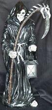 """MOMENTO MORI   Grim Reaper Skeleton with Lantern   statue Figure H23.5"""""""