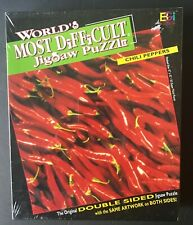 Worlds Most Difficult Jigsaw Puzzle Chili Peppers Vintage New in Sealed Box