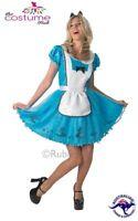 Sassy Alice in Wonderland Ladies Fancy Dress Disney Fairytale Womens Costume New