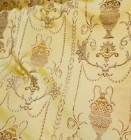 "Jacquard Fabric,  Upholstery and  Drapery,  Color Gold, By the Yard, 58"" wide"