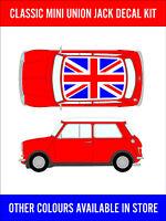 Classic Mini Union Jack Roof Decal Kit Cooper Racing Vinyl Graphics NEW