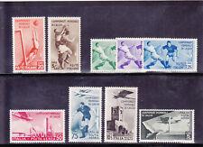 REGNO 1934 CALCIO+A 9 VALORI SERIE LINGUELLATA LUSSO