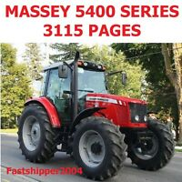 MASSEY FERGUSON 5400 & DYNA 4  TRACTORS WORKSHOP SERVICE MANUAL OPERATORS ON CD