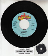 M.C. HAMMER  2 Legit To Quit & Addams Groove MC 45 record + juke box strip NEW
