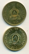 2 NICE 10 CENTAVO COINS from HONDURAS - 1998 & 2010 (2 TYPES)