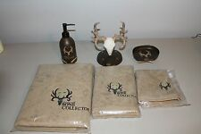 BONE COLLECTOR Deer Antler Skull 6 PIECE BATH ACCESSORY SET by Michael Waddell