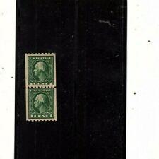 U.S stamp . 410 VF XF Mh  PASTE UP PAIR  coil (orange