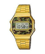 CASIO VINTAGE A168WEGC-3D GOLD PLATED STAINLESS STEEL WATCH FOR MEN & WOMEN-COD
