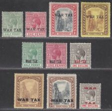 Bahamas 1918-19 KGV War Tax Overprint Selection to 1sh Mint