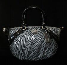 Coach Madison Sophia Lurex Zebra Jacquard Gallery Tote Bag Purse Satchel WOW!