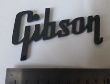 Gibson plastic logo new style badge black color 100 mm = 4 inch