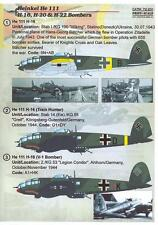 Print Scale Decals 1/72 HEINKEL He-111 H16 H-20 & H-22 Medium Bombers Part 5