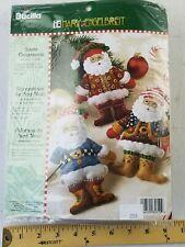 Bucilla Christmas Felt Applique Tree Ornament Kit Santa Mary Engelbreit 85310