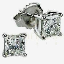 8c205b42d677b Stud 14k White Gold VS1 Fine Diamond Earrings for sale   eBay