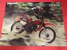 1982 Honda XR200 R Motorcycle Sales Brochure - Literature