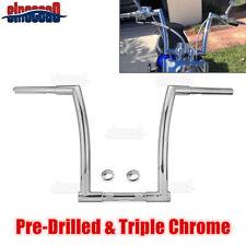 """Chrome 14"""" Ape Monkey Hanger Bar Handlebars For Harley Dyna Softail Sportster"""