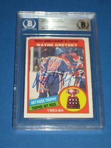 WAYNE GRETZKY Signed 1984-85 O-PEE-CHEE Card #373 Beckett Authenticated