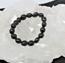 CHARGED Black Tourmaline Crystal Tumble Gemstone Bracelet in GIFT BOX, Stretchy