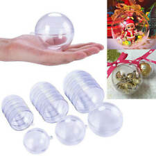 15Pcs Clear Baubles Ball Transparent Plastic Craft Ball Christmas Decor Party