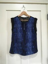 W118 By Walter Baker Kaitlyn Top Snakeskin Print Cobalt Blue Size Small NWT $108