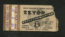 1980 Zz Top Expect No Quarter Tour concert ticket stub Seattle Wa La Grange