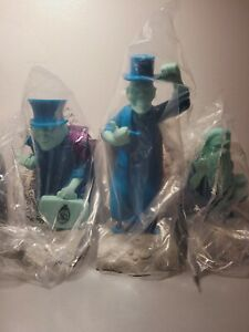 Disney Haunted Mansion 3 Hitchhiking Ghosts COMPLETE SET Popcorn Bucket Sipper