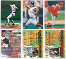 1993 & 1991 Topps Stadium Club Clemens #748 Plunk #529 Tewksbury #417 Card Lot