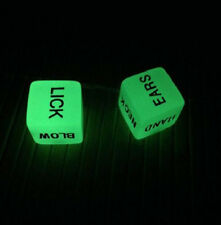 2pcs Glow In The Dark Erotic Dice Game Toy Sex Party Adult Couples Fun Luminous