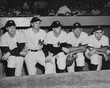 Joe DiMaggio, Jimmie Foxx & Lou Gehrig photo -K9299- 1937 Baseball All-Star game