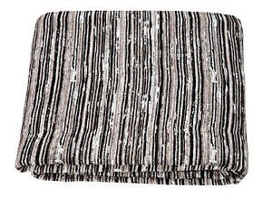 Jacquard Chenille Woodstock Rustic Striped Sofa / Bed Throw Blanket or Cushions