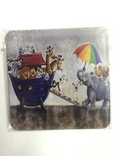 NEW CORK COASTER NOAHS ARK ANIMALS ON BOAT BIBLE STORY PACKAGED