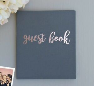 Rose Gold & Gray Guest Book