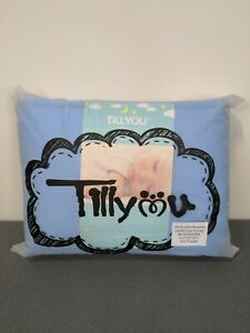 TILLYOU 3-Piece Padded Baby Crib Rail Cover Protector Set Safe Teething Blue