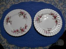 Royal Albert Lavender Rose 2 Dessert Plates Bone China England 7.25 Inch